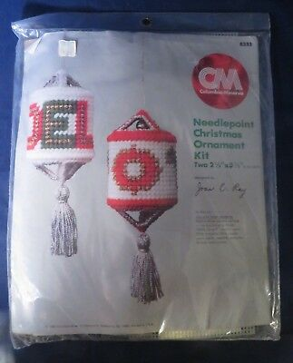 "Columbia Minerva ""Joy & Noel Lanterns"" Ornament Plastic Canvas Needlepoint Kit"