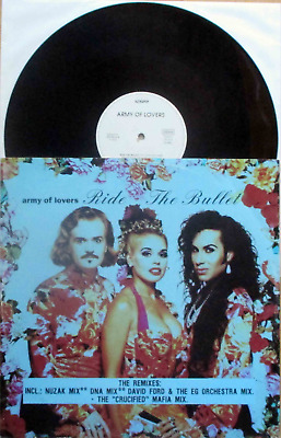 """Army Of Lovers: Ride The Bullet -The Remixes / Crucified (12""""MAXI GERMANY 1992!)"""