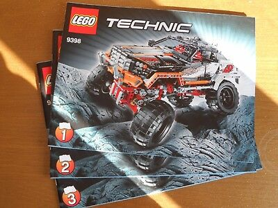 Lego Technic 9398 4x4 Crawler Instructions Only No Bricks