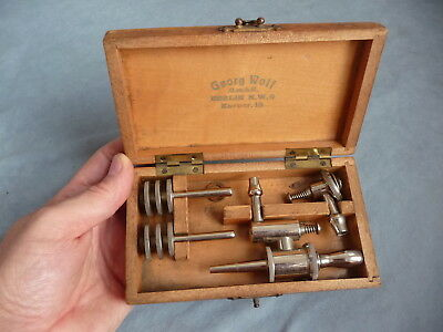 antique german urology instrument  cystoscope set cased Dr. Lewin Berlin 1900s