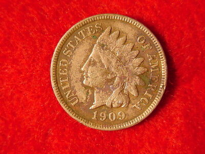 1909 Indian Head Penny Cent Last Year No Reserve FREE S/H After 1st Item