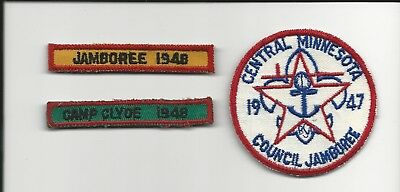 1948 Camp Clyde segment Central Minnesota Council 1947 and 1948 Jamboree patches
