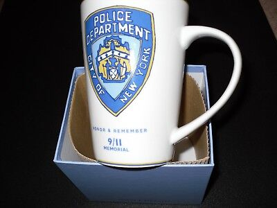 9/11 Memorial NYC Mug - New POLICE DEPT. CITY OF NEW YORK BOXED MUG
