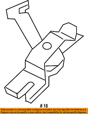 Ford F81z 2a637 Aa Rear Brake Leverparking Brake Lever