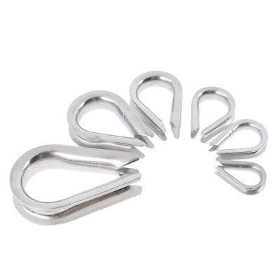 20 Pcs Stainless Steel Wire Rope Thimbles for 2-8mm Diameter Cables