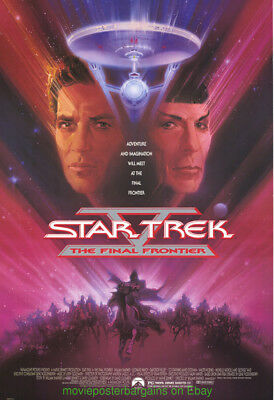 STAR TREK V MOVIE POSTER Original S. Sided 27x40 William Shatner Leonard Nimoy