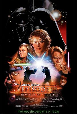 Star Wars REVENGE OF THE SITH MOVIE POSTER Natalie Portman Double Sided 27x40
