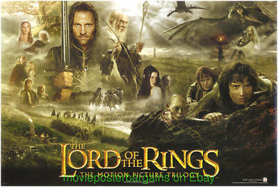 LORD OF THE RINGS The Fellowship Of The Rings MOVIE POSTER 13x20 In.Trilogy Ver.