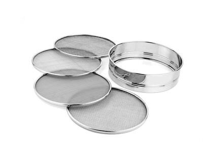 Qualways 5pc Stainless Steel 8.25 inch Mesh Sieve or Sifter