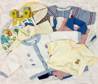 VTG Baby Boy's Clothing Lot Sailor Suit Buster Brown Nannette Pajamas 0-12 Month
