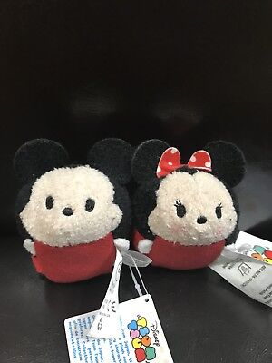 "Disney Mickey & Minnie Mouse Tsum Tsum 3 1/2"" Mini Plush"