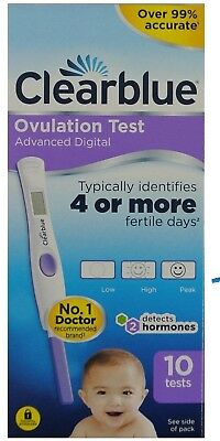 Clearblue Digital Ovulation Test Kit 2 Most Fertile Days 10 Tests Home
