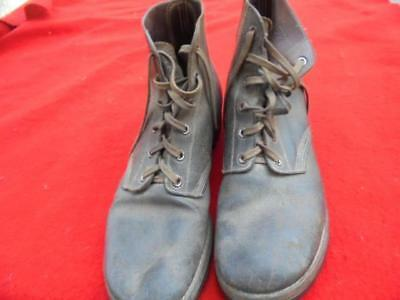 RARE set of Unissued WWII US Navy Seabee Corpsman Roughout USMC boots 1945