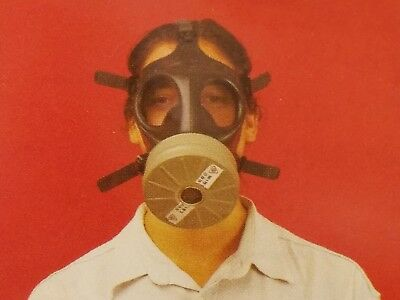 Israeli Respirator Gas Mask w/Genuine Military Sealed 40mm NATO Filter NBC - NEW