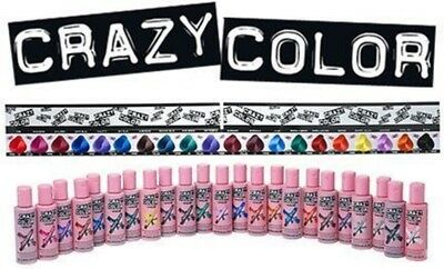 Crazy Color Semi-Permanent Conditioning Hair Dye Colour Cream Tint 100