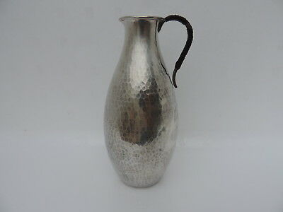 Exquisite Antique Japanese Sterling Silver Sake Wine Ewer Pitcher Decanter Japan