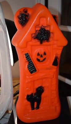 Vintage Blow Mold Halloween Haunted House  In Box #30