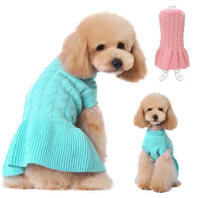 Hand Knitted Soft Dog Sweater Dog Skirt Cat Puppy Dog Clothes Jumper Sweater