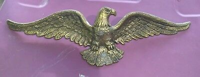 """VINTAGE American BALD EAGLE Brass 19"""" Ready to hang"""