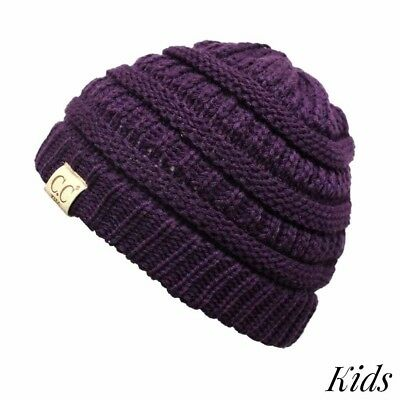 The original C.C beanie style for kids. Purple Winter Hat for Girls NWT
