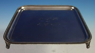 Howard & Co. Sterling Silver Salver Tray Square Beaded Cast Feet #1882 (#2721)