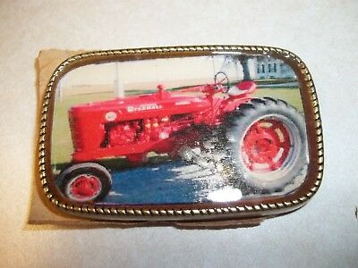 FARMALL SUPER M DIESEL Tractor BELT BUCKLE COLLECTIBLE DECORATIVE BELT BUCKLE