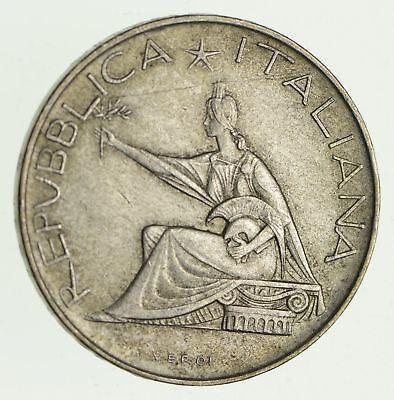 Roughly Size of Half Dollar - 1961 Italy 500 Lire - World Silver Coin - 11g *026