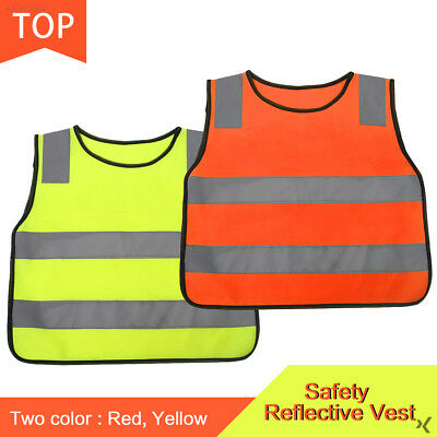 F332 Kids Outdoors Reflective Vest Fluorescent High Visibility Durable Children