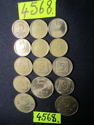 14 x assorted coins from   Israel      55 gms      Mar4568