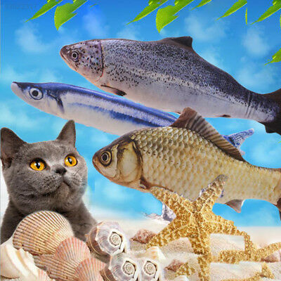 085E Artificial Fish Plush Pet Cat Puppy Dog Sleeping Cushion Fun Toy Gadget