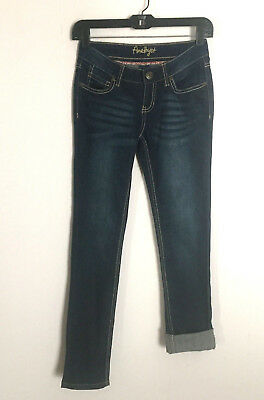 Amethyst Skinny Slim Denim Jeans Size 0 Womens Jrs Stretch Darker