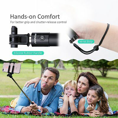 Mpow Selfie Stick Bluetooth, iSnap X Extendable Monopod With Remote Shutter