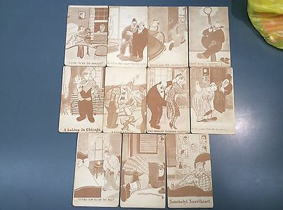 Lot of (11) 1920's - 1930's Comic Humor Adult Arcade Card(s)  - Lot #1