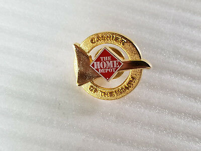 Home Depot Cashier Of The Month Lapel Pin.