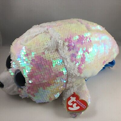 2018 TY Fashion Flippy Color Changing Sequin Backpack - ICY the Seal (13 Inch)