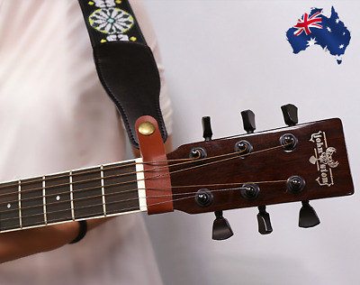 Guitar Strap Button Hook for Acoustic Folk Classic Guitar Genuine Leather  NEW