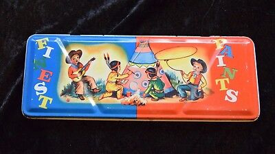 Vintage Child's Paint First Paint Tin (Cowboys & Indians) - made in England