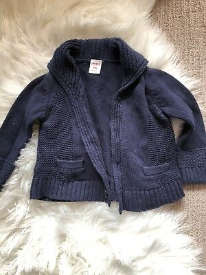Size 2 18-24m Seed Heritage Baby Navy Knitted Cardigan
