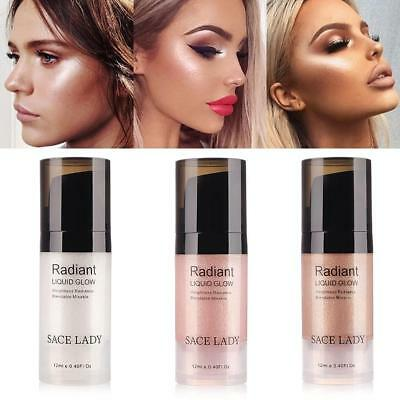 SACE LADY 3-Color Face Eyes Lip Highlighter Liquid 3D Glossing  Contour Moisture