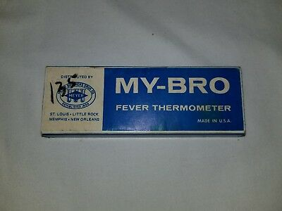 Vintage My-Bro Fever Thermometer PS Permaseal