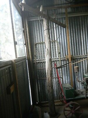 Antique Vintage Early Old Australian TELEGRAPH LAMP POST Wimmera