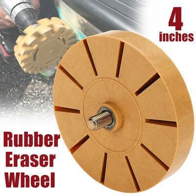 "4"" Rubber Eraser Wheel for Adhesive Sticker Pinstripe Decal Graphic Remover"