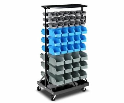 New 90 Bins Storage Rack Warehouse Garage Shelving Rust Resistant Finish Frame