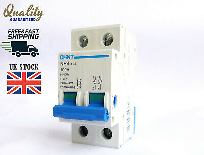 Chint NH4-125 100 AMP 2 (Double) Pole Mains Switch Disconnector 400V Isolator