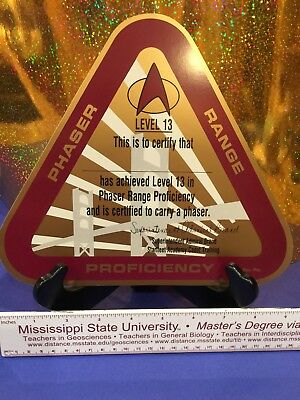 Star Trek Phaser Range Proficiency Certificate