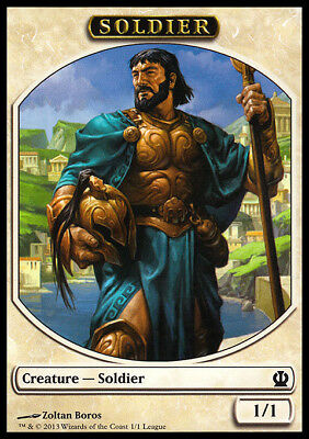 Magic the Gathering MTG Soldier Token Theros League Promo 1/1 NM!