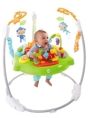 Fisher-Price Baby Jumperoo Babies Toddlers Roaring Rainforest Bounce and Jump