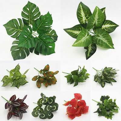 Artificial Plant Fake Leaves Foliage Bush Home Office Flower Wedding Party Decor