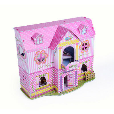 Kids Doll House Furniture Staircase Barbie Princess Castle Dollhouse UK
