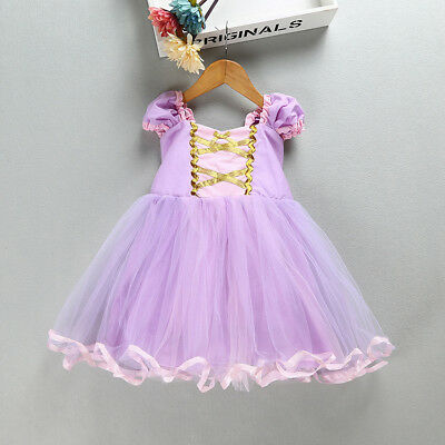 3341a2c00 Princess Tangled Rapunzel Kids Bady Girls Princess Tutu Dress Cosplay  Costume